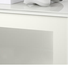 White frame frosted glass doors