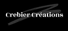 crebier créations logo noir blanc gris boutique en ligne