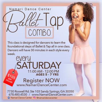 Ballet/Tap Combo Class   Registration is Open!