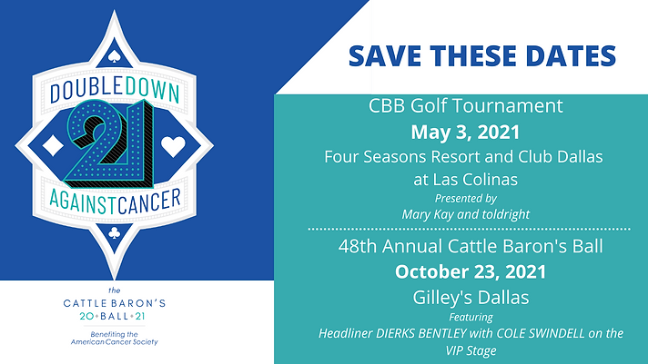 SAVE THESE DATES CBB Golf Tournament May