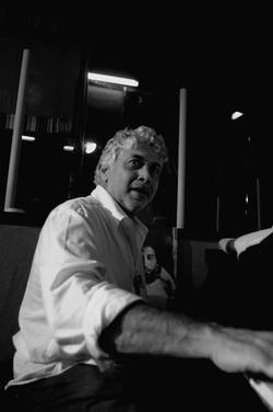 Monty at Tuff Gong studios piano