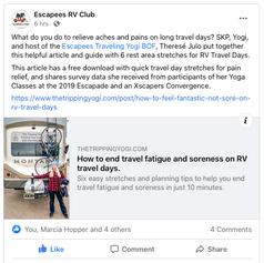 Yoga Blog: 6 Stretches for RV Travel Days
