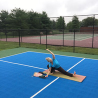 Outdoor Yoga: Pickleball Court