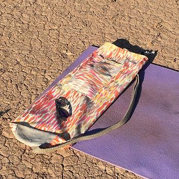 Yoga mat and yoga mat bag