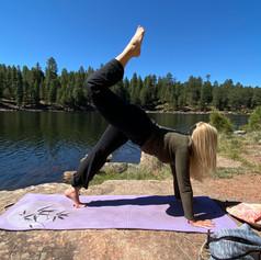 Outdoor Yoga: Scorpion Pose