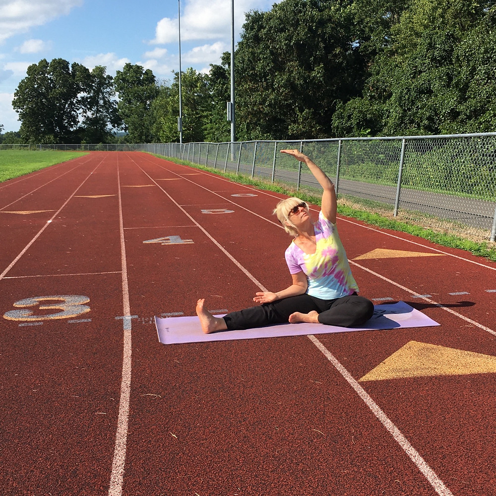 Outdoor Yoga - running tracks and hiking trails are great places to practice yoga outdoors.