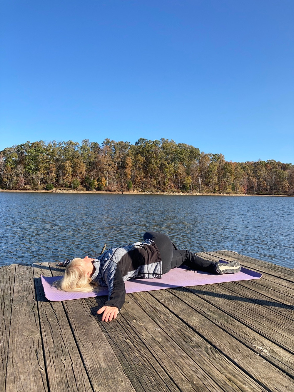 Outdoor Yoga - boat docks are great places to practice yoga outdoors