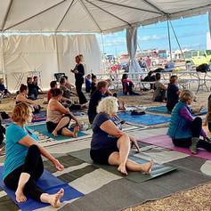 Rv Yoga: Yoga class at RV rally