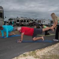 Outdoor Mens Yoga Class