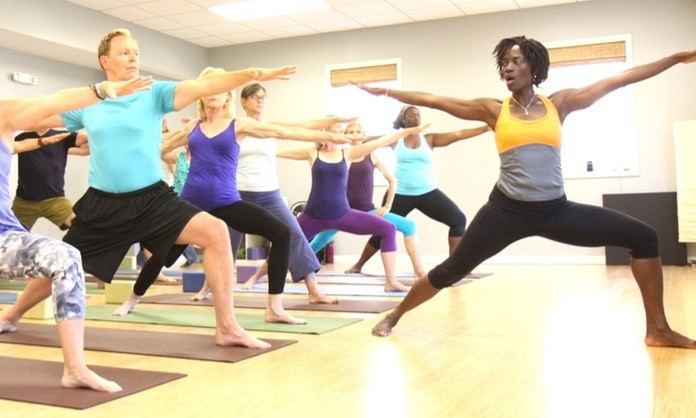 yoga class with Romy Toussaint