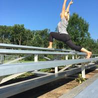 Outdoor Yoga: Bleachers