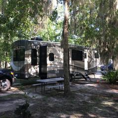RV Yoga:  Campsite in GA