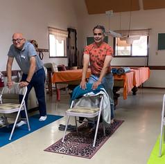 Traveling Yoga Teacher:  Chair Yoga
