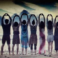 Traveling Yoga Teacher: Sunset Beach Yoga