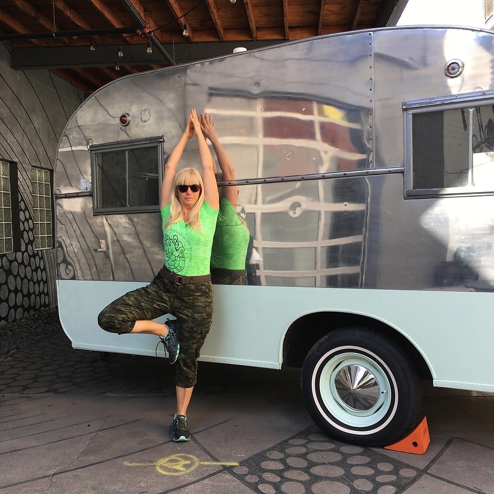 Outdoor Yoga - The Tripping Yogi Therese Julo