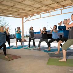 Traveling Yoga Teacher:  RV rally yoga class