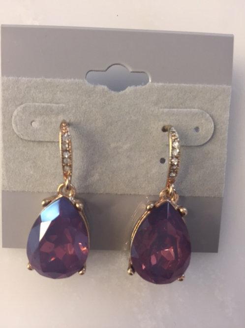 Violet Teardrop Earrings