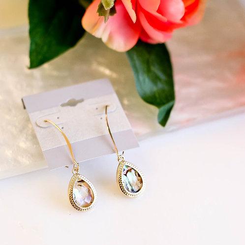 Jacqueline Abalone Drop Earrings