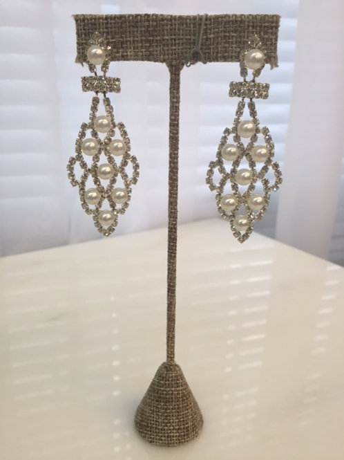Katherine Pearl Chandelier Earrings