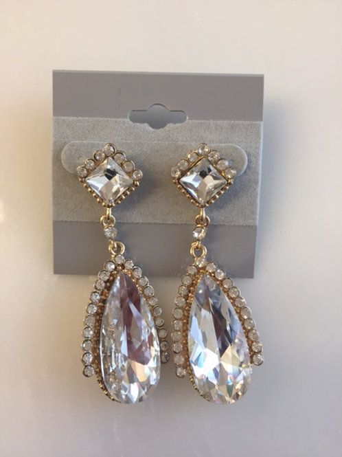 Caroline Crystal Rhinestone Earrings