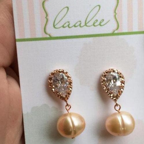 laalee Rose Gold Freshwater Pearl & Crystal