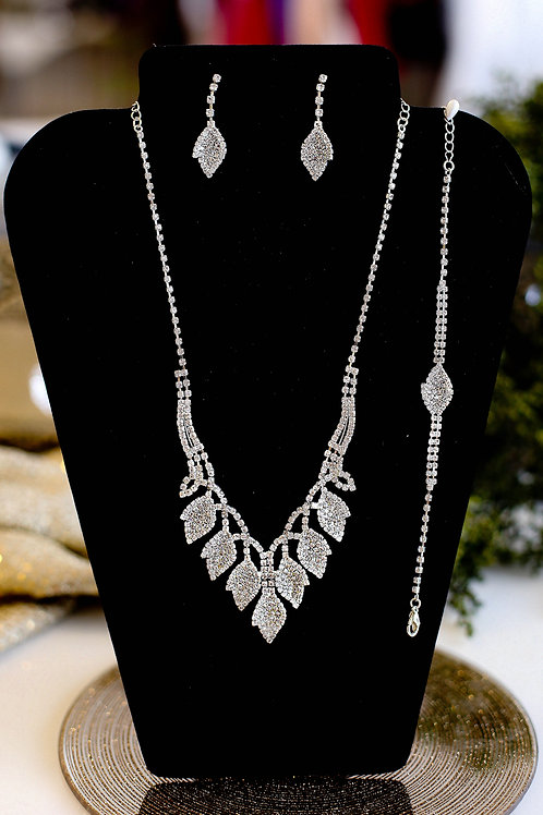 Gia Necklace, Bracelet & Earrings Set