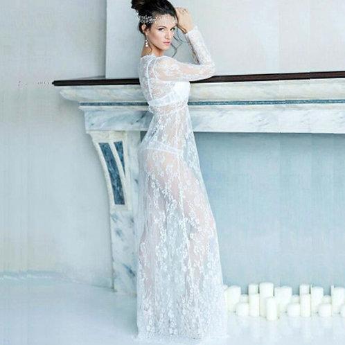 Carino V-Neck Lacy Dress