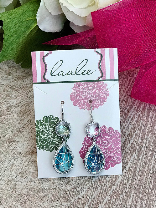 Crystal Aquamarine Earrings