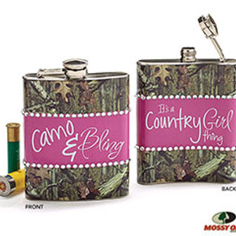 Camo & Bling Flask