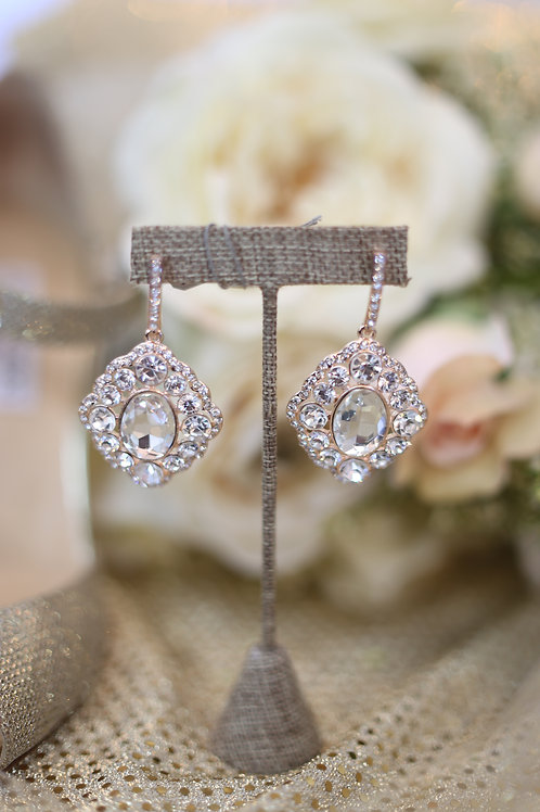 Isabella Pink Gold Earrings