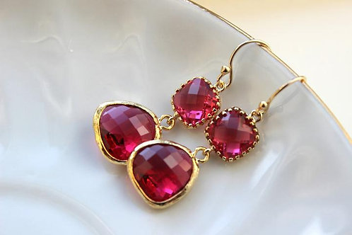 laalee Fushia Earrings
