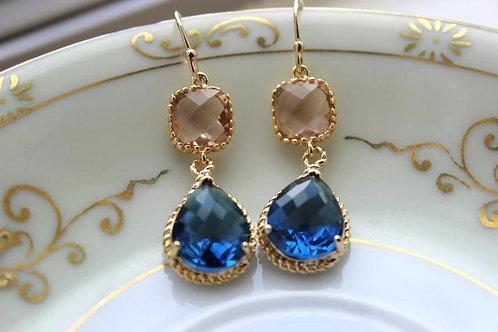 laalee Champagne & Sapphire Earrings