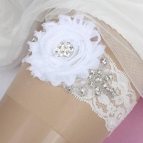 Dolce Vita Crystal Lace Garter