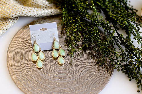 Aubrey Mint Green Earrings