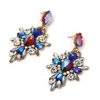 Blue Stone Statement Earrings
