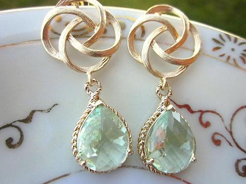 laalee Green Prasiolite Teardrop Earrings