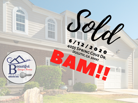 SOLD!!! (6/12/2020): 4055 Spring Cove Dr., Duluth, GA  30097