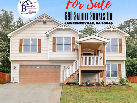 FOR SALE (UNDER CONTRACT):  690 Saddle Shoals Dr, Lawrenceville Ga 30046