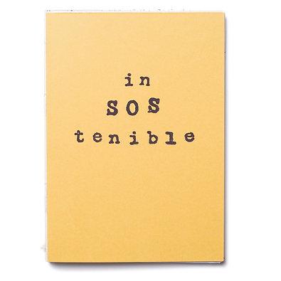 Libreta cosida in SOS tenible