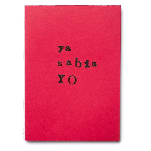 Libreta cosida ya sabia YO