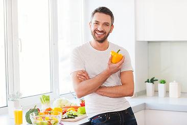 Healthy food is healthy life. Handsome y