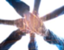 Double exposure Teamwork Concept,Group o