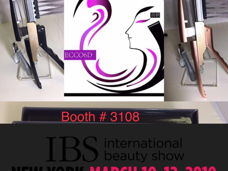 IBS international hair show at March 10-12, 2019 in New York, our booth number #3108