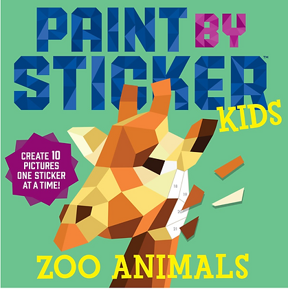 Paint by Stickers Kids: Zoo Animals