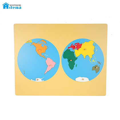 Puzzle map of world part
