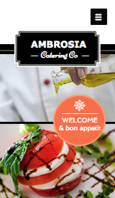 Events website templates – Catering Co