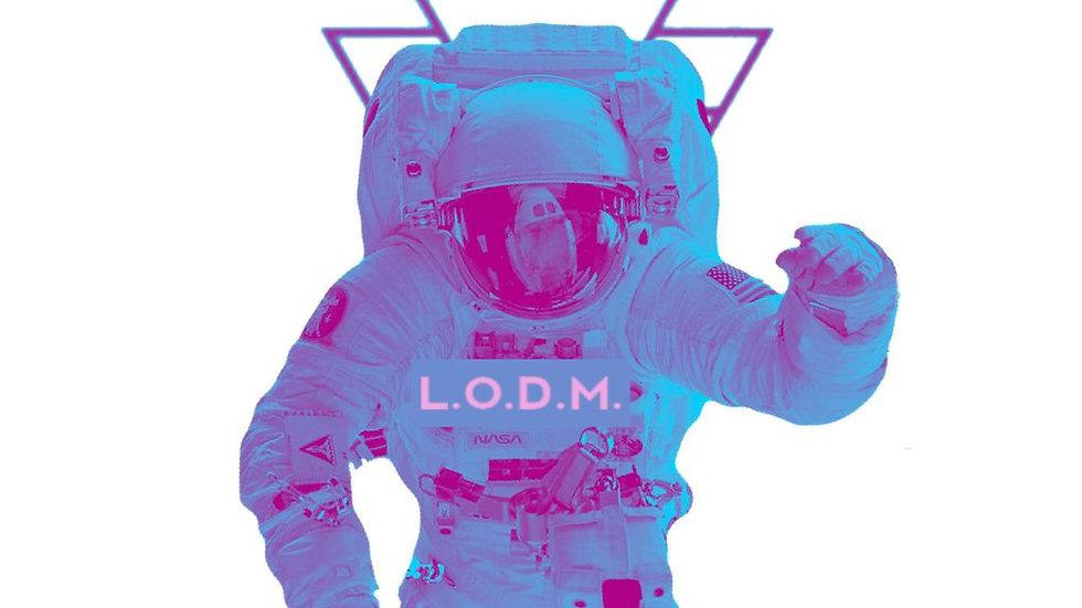 La Obra De Marte Astronaut Sticker