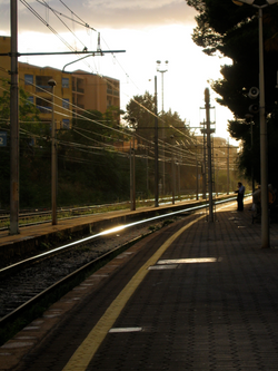 Train Station in Cefalu, Sicilia
