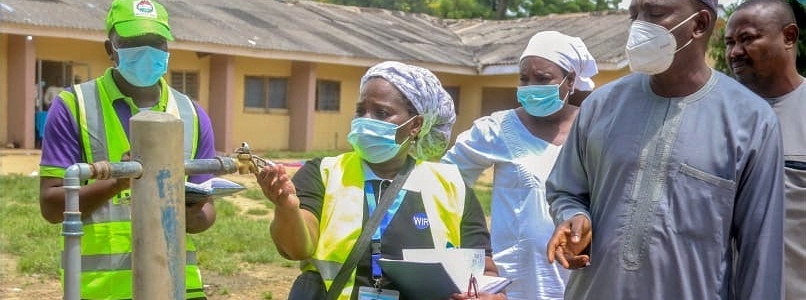 Nancy from WaterIsRight visiting local hospitals in Bauchi State