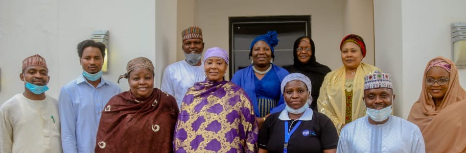 Nancy from WaterIsRight warmly received by the First Lady of Bauchi State Hajiya Dr. Aisha Bala Mohammed and her team.